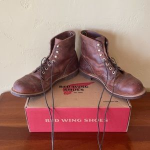 RED WING IRON RANGER BOOTS 9.5 COPPER RED WING